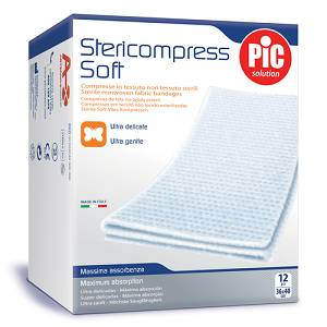 STERICOMPRESS Garza Soft 18x40  12 pezzi